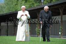 31-07-2009 Pope Benedict XVI during his annual holiday