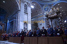 08-09-2016 Swiss Guards and Vatican Gendarmerie celebrate the Holy Year of Mercy