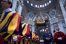 08-09-2016 Swiss Guards and Vatican Gendarmerie celebrate the Holy Year of Mercy (2)