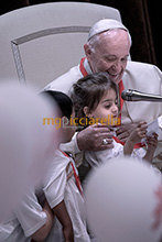 03-06-2017 Pope Francis meets children from Italy's earthquake region