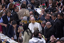19-11-2017 Pope Francis eats lunch with the poor