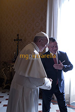19-12-2017 Pope Francis meets King Abdullah II of Jordan