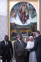 25-01-2018 Pope Francis meets Faustin Archange Touadera President of the Central African Republic