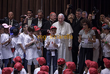 09-06-2018 Pope Francis meets Children's Train